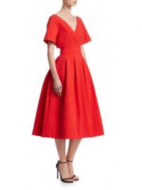 Oscar de la Renta - Bow-Back A-Line Dress at Saks Fifth Avenue