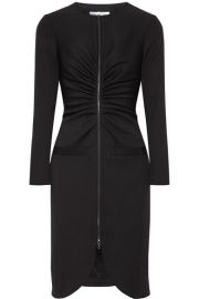 Oscar de la Renta   Gathered stretch-wool crepe dress at Net A Porter