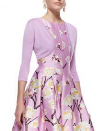 Oscar de la Renta Cashmere-Silk Shrug Lilac at Neiman Marcus