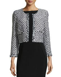 Oscar de la Renta Cropped Tweed Jacket at Last Call