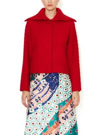 Oscar de la Renta Diamond Quilted Cardigan at Gilt