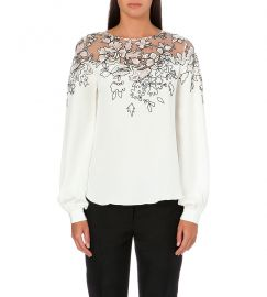 Oscar de la Renta Embroidered Blouse at Selfridges