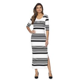 Ottoman Rib Knit Maxi Dress by Wendy Williams HSN Collection at HSN