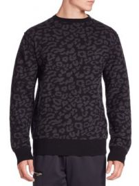Ovadia   Sons - Leopard Crewneck Merino Wool Sweater at Saks Fifth Avenue