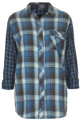 Oversized Check Shirt at Topshop