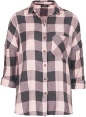 Oversized Check Shirt at Topshop