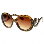 Oversized High Fashion Sunglasses with Baroque Swirl Arms at Amazon