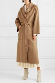 Oversized belted wool and cashmere-blend coat at Net A Porter