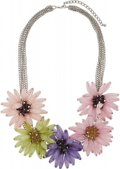 Oversized flower necklace  at Topshop