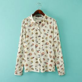 Owl print blouse at Aliexpress