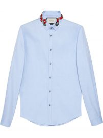 Oxford Duke shirt with Snake by Gucci at Farfetch