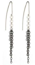 Oxidized Fringe Earrings at Peggy Li