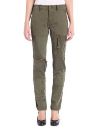 P Back Pants in Olive Green at Diesel