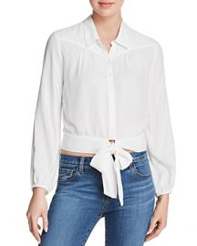 PAIGE Damaris Tie-Front Blouse in White at Bloomingdales