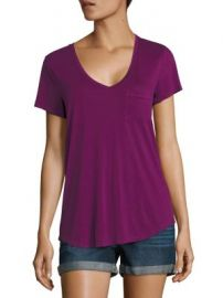 PAIGE - Lynnea V-Neck Tee at Saks Fifth Avenue