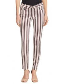 PAIGE - Verdugo Striped Ankle Skinny Jeans at Saks Fifth Avenue