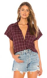 PAIGE Jaylin Shirt in Dark Currant Plaid from Revolve com at Revolve