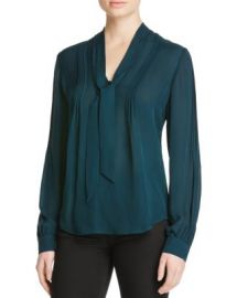 PAIGE Lupita Silk Tie Neck Blouse - 100  Bloomingdale  039 s Exclusive at Bloomingdales