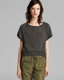 PAM andamp GELA Sweatshirt - Studded Crop at Bloomingdales