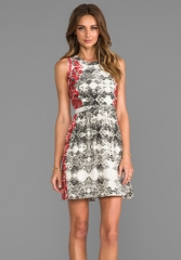 PARKER Embroidered Ancho Dress in Poinsettia at Revolve