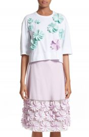PASKAL Floral Appliqu   Crop Tee at Nordstrom