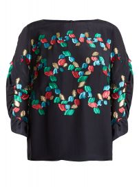 PETER PILOTTO Boat-neck fil coupé silk-blend top at Matches