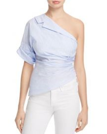 PETERSYN Leah One-Shoulder Striped Top at Bloomingdales