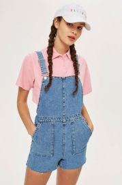 PETITE Short Denim Dungaress - Rompers   Jumpsuits - Clothing at Topshop