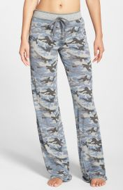 PJ Salvage Camo Pajama Pants in Heather Grey at Nordstrom