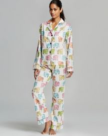 PJ Salvage Elephant Print Pajama Set at Bloomingdales