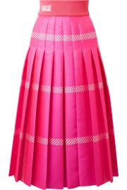 PLEATED CHECKED JACQUARD MIDI SKIRT at Net A Porter