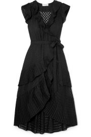 PLISSe TRIMMED FIL COUPe VOILE WRAP DRESS at Net A Porter