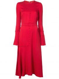 PRABAL GURUNG Graphic Blocking Flare dress at Farfetch