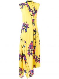 PROENZA SCHOULER  asymmetric floral maxi dress at Farfetch