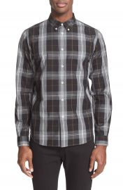 PS Paul Smith Extra Trim Fit Plaid Sport Shirt at Nordstrom