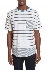 PS Paul Smith Mixed Stripe Pocket T-Shirt at Nordstrom