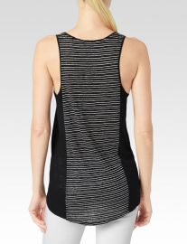 Paige Denim Adelaide Linen Tank in Black at Nordstrom