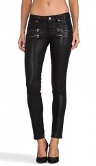Paige Denim Edgemont Ultra Skinny Silk Coating in Black  REVOLVE at Revolve