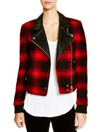 Paige Denim Plaid Moto Jacket - 100 Bloomingdaleand039s Exclusive at Bloomingdales