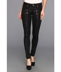 Paige Edgemont Ultra Skinny in Black Silk Coating Black Silk Coating at Zappos