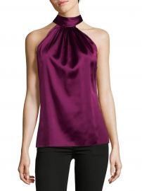 Paige Silk Tie-Neck Blouse at Saks Off Fifth