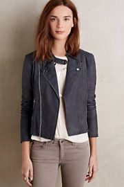 Paige Silvie Suede Moto Jacket at Anthropologie
