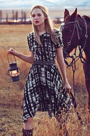 Painted Plaid Dress at Anthropologie