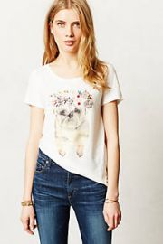 Painted Pug Tee at Anthropologie