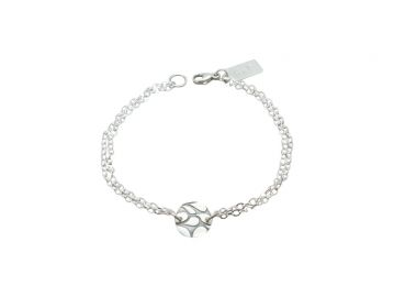 Paisley Charm Double Chain Bracelet at Jess Kay Designs