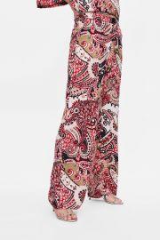 Paisley Print Pants by Zara at Zara