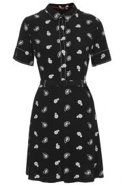 Paisley Stitch Tea Dress at Topshop