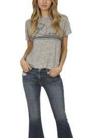 Palm Embroidered Linen Tee by Rag & Bone at Blue & Cream