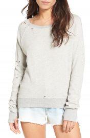 Pam   Gela  Annie  Destroyed High Low Sweatshirt at Nordstrom