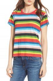 Pam   Gela Rainbow Stripe Ringer Tee at Nordstrom